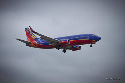 Photograph - Color Me Beautiful Southwest Airlines N382sw Boeing 737 Airliner Art by Reid Callaway