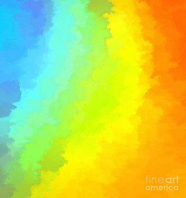 Abstract Digital Photograph - Color Me Happy by Krissy Katsimbras