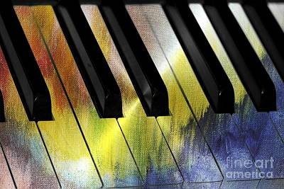 Piano Photograph - Color Me Music by Diann Fisher