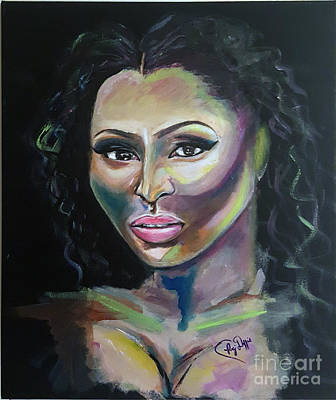 Niki Minaj Painting - Color Me Niki Minaj  by Regimia Duffie