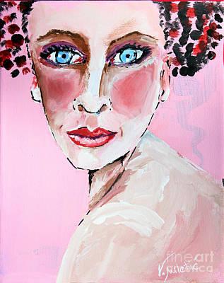 Portrait Painting - Color Me Pretty - Woman Face Art By Valentina Miletic by Valentina Miletic
