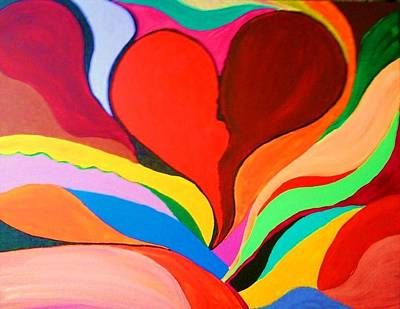 Color Mine With Love Art Print by Charles  Jennison