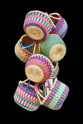 Photograph - Color Of Baskets by John Haldane