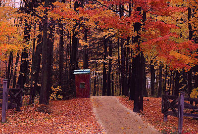 Shed Mixed Media - Color Of Fall by Evelyn Patrick