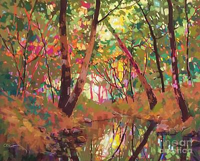 Painting - Color Of Forest by Celine  K Yong