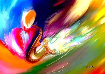 Painting - Color Of Music by Deborah Lee
