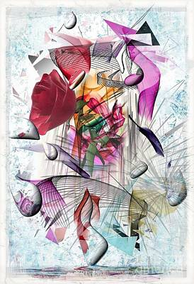 Digital Art - Color Of Rose By Nico Bielow by Nico Bielow