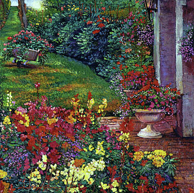 Brick Painting - Color Palette Garden by David Lloyd Glover
