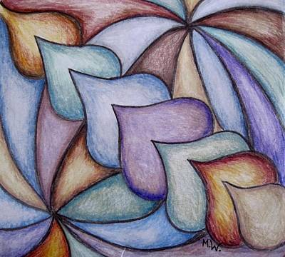 Photograph - Color Pencil Abstract by Megan Walsh