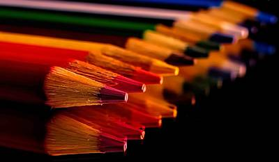 Photograph - Color Pencils by Elijah Knight