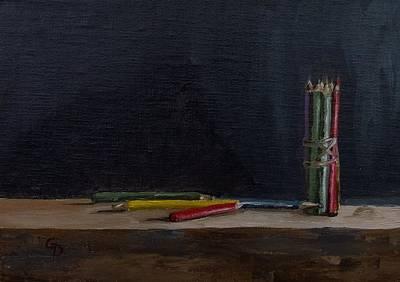 Painting - Color Pencils by Grace Diehl