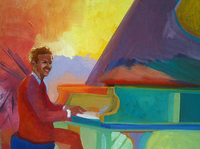 Painting - Color Piano Justin Levitt Steinway by Suzanne Giuriati-Cerny
