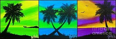 Painting - Color Pop Palms by JoNeL Art