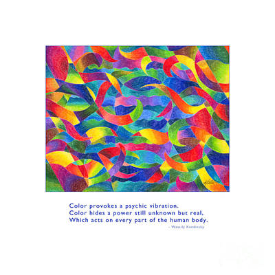 Drawing - Color Provokes Psychic Vibration by Kristen Fox