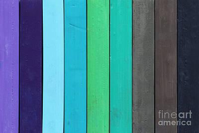 Color Range - Cold Colors Art Print
