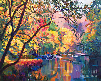 Color Reflections Plein Aire Print by David Lloyd Glover