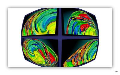 Digital Art - Color Rhombus by Halina Nechyporuk