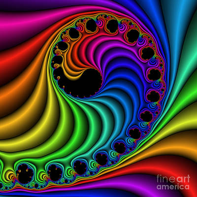 Digital Art - Color Ribs 116 by Rolf Bertram