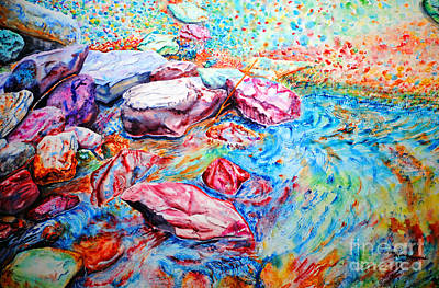 Painting - Color Rocks by Tracy Rose Moyers