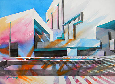 Art Print featuring the painting Color Simphony by J- J- Espinoza