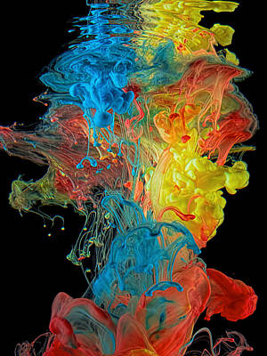 Liquid Emulsion Photograph - Colour Splash by Henry Jager