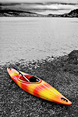 Kayak Photograph - Color Splash by Meirion Matthias