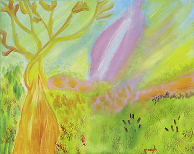 Painting - Color Splashes Surounding Me by Meryl Goudey