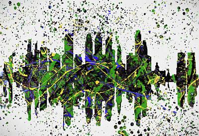 Painting - Color Splatter Philadelphia by Dan Sproul