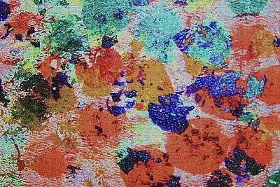 Digital Art - Color Stamp Oil Paint 1970's Orange by Tom Janca