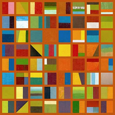Painting - Color Study Collage 66 by Michelle Calkins