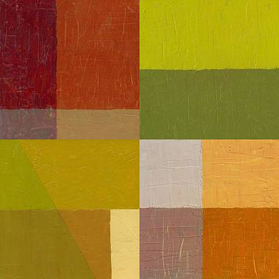 Textured Painting - Color Study With Orange And Green by Michelle Calkins