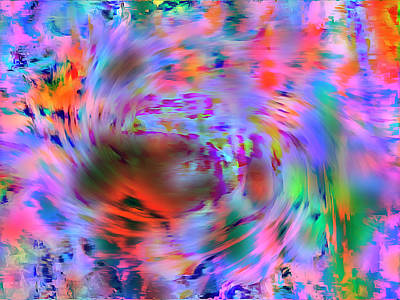 Color Tornado Art Print