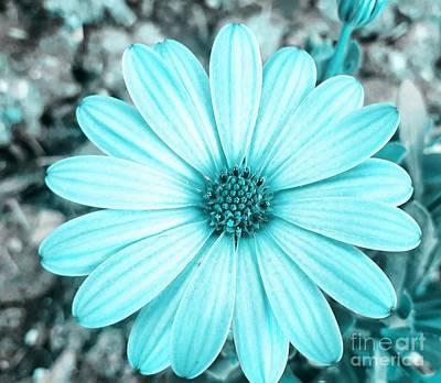 Digital Art - Color Trend Blue Blossom by Rachel Hannah