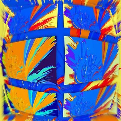 Digital Art - Color Turtle by Halina Nechyporuk
