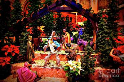 Frank J Casella Royalty-Free and Rights-Managed Images - Color Vibe Nativity - No Border  by Frank J Casella