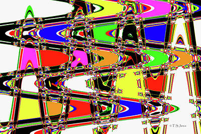 Digital Art - Color Wave Abstract by Tom Janca