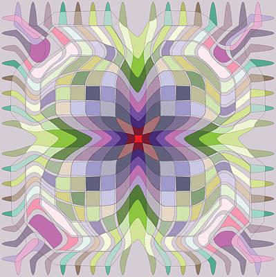 Digital Art - Color Web 1 by Kevin McLaughlin