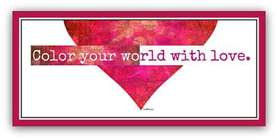 Digital Art - Color Your World 2 by Christine Nichols