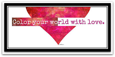 Digital Art - Color Your World Framed by Christine Nichols