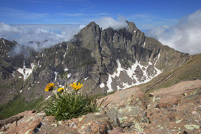 Crestone Photograph - Colorado 14ers - Crestone Peak And Creston Needle by Rob Greebon