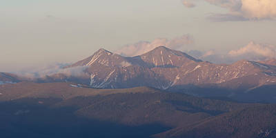 Er Photograph - Colorado 14ers Grays And Torreys Peaks by Aaron Spong
