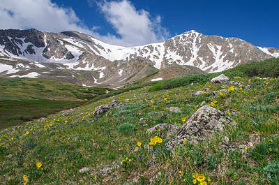 Er Photograph - Colorado 14ers Grays Peak And Torreys Peak by Aaron Spong