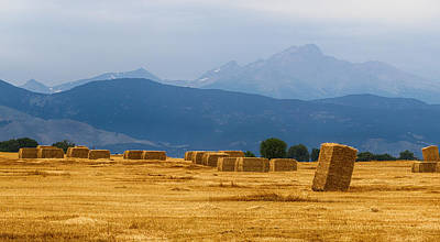 Hay Photograph - Colorado Agriculture Farming Panorama View Pt 1 by James BO  Insogna