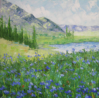 South Of France Painting - Colorado Alpine Lake by Frederic Payet