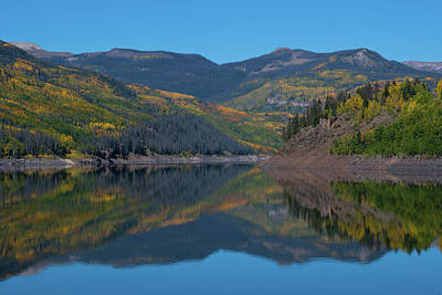 Photograph - Colorado Autumn Mountain Reflection by Cascade Colors