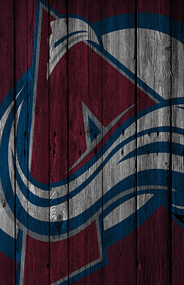 Stanley Cup Digital Art - Colorado Avalanche Wood Fence by Joe Hamilton