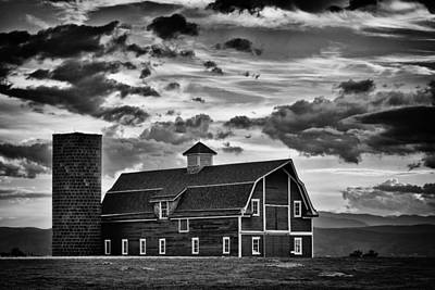 White Barn Photograph - Colorado Barn Monochrome by Darren White