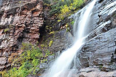 Photograph - Colorado Bear Creek Falls Mountain Landscape by Andrea Hazel-Ihlefeld