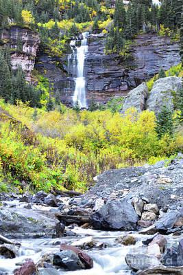 Photograph - Colorado Bear Creek Falls Stream Landscape by Andrea Hazel Ihlefeld