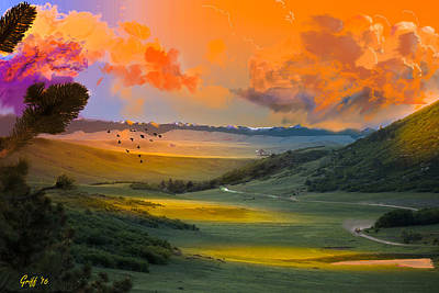 Digital Art - Colorado Big Valley Sunrise by J Griff Griffin